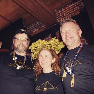 2016 Beer Drinker of The Year fam. The most amazing time last night thanks to these three... From left, Kevin Cox from Muncie, IN, Shawna Cormier, Denver, CO, Mike Dixon from Wake Forest, NC. #Wynkoop #bdoy2016 #gabf #cicerone #craftbeer #denver #stateofcraftbeer #nuglife #brewpub #colorado #craftbeerlove