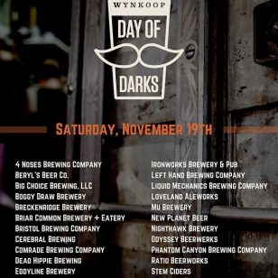 #DayOfDarks is coming! Brewery lineup list as of today. Ticket link in bio. Get yours today and prepare to get your sip on. #darkbeersonly #craftbeer #denver #movember #microbrew #drinklocal #brewfest