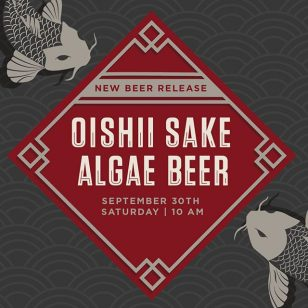 Your catch, our release... Snag your limited RSVP tickets and join us this Saturday for our Oishii Sake Lager beer tapping. Details at bit.ly/WYNoishii 🎏